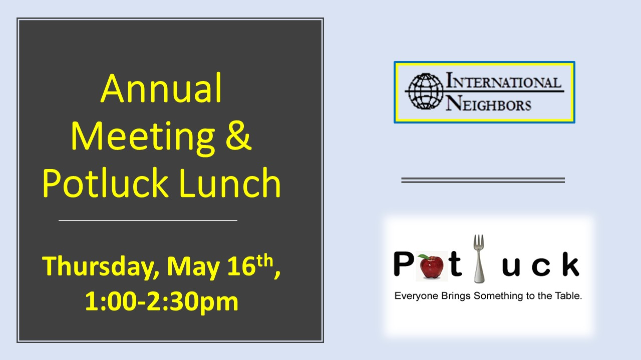 IN DAY MAY 2019 – ANNUAL MEETING & POTLUCK LUNCH