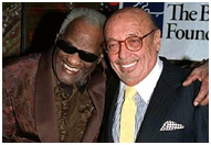 Ahmet Ertegun and Ray Charles